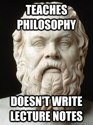 Teaches philosophy meme