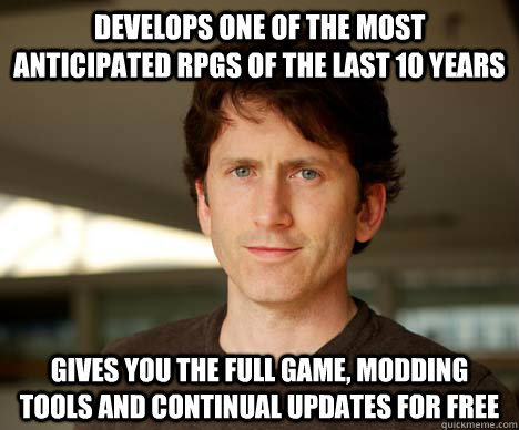 develops one of the most anticipated rpgs of the last 10 yea - todd howard