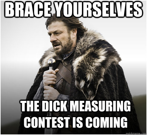 dick measuring contest