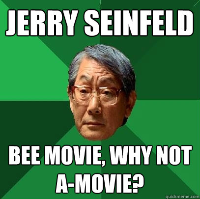 jerry seinfeld bees. jerry seinfeld bee movie