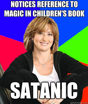 notices reference to magic in childrens book satanic - Sheltering Suburban Mom