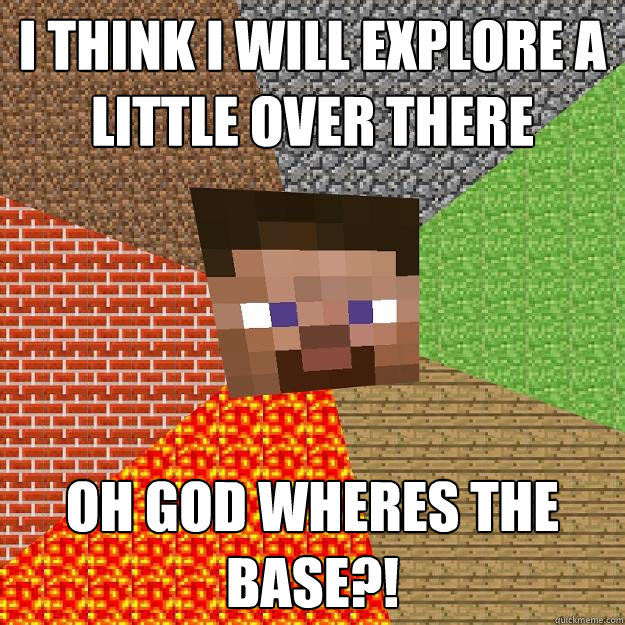 i think i will explore a little over there oh god wheres the - Minecraft