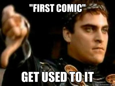 first comic get used to it - Downvoting Roman