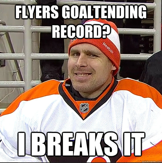 flyers goaltending record i breaks it - Ilya Bryzgalov Solid Guy