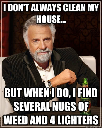 i dont always clean my house but when i do i find sever - The Most Interesting Man In The World