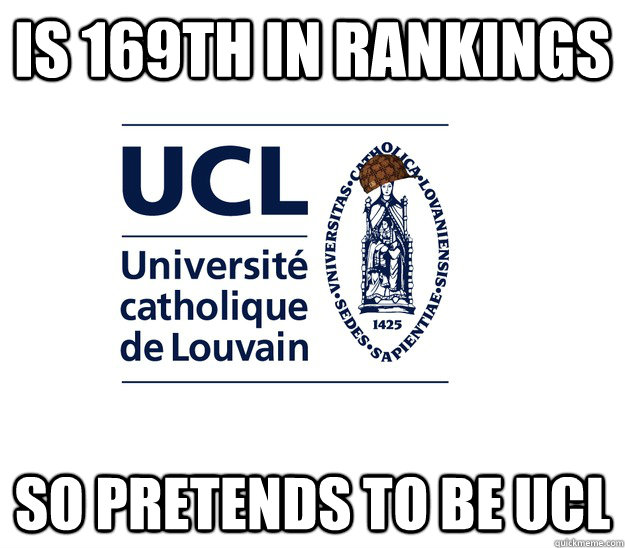 is 169th in rankings so pretends to be ucl -