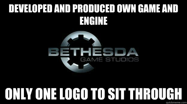 developed and produced own game and engine only one logo to  -