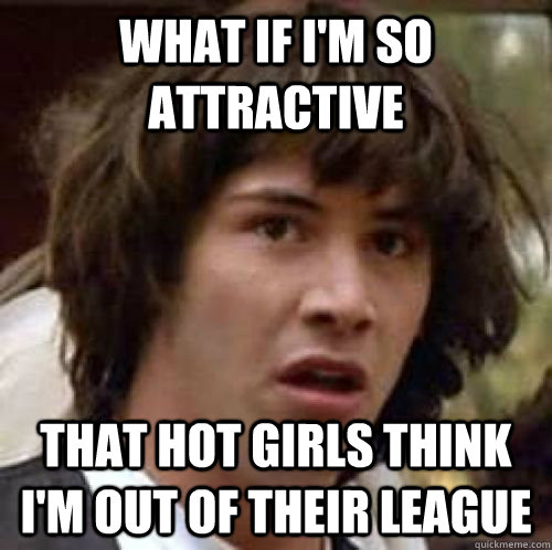 what if im so attractive that hot girls think im out of th - conspiracy keanu