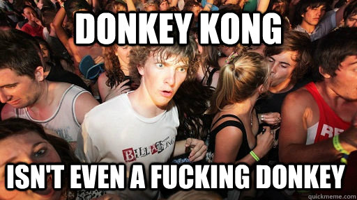 donkey kong isnt even a fucking donkey - Sudden Clarity Clarence