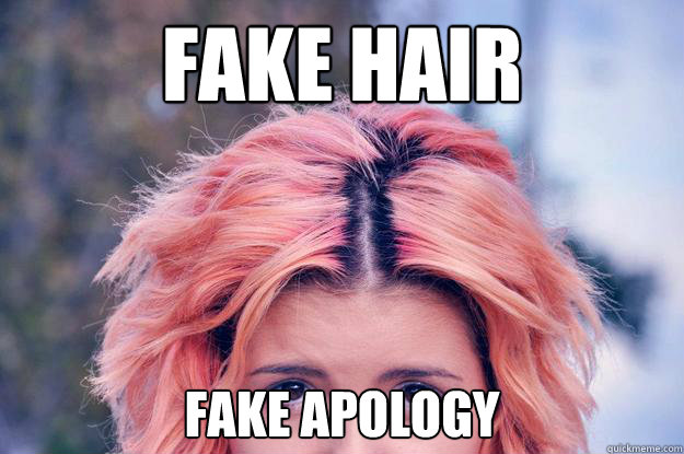 fake apology