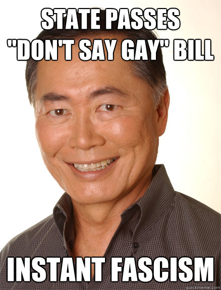 state passes dont say gay bill instant fascism - Good Guy Takei
