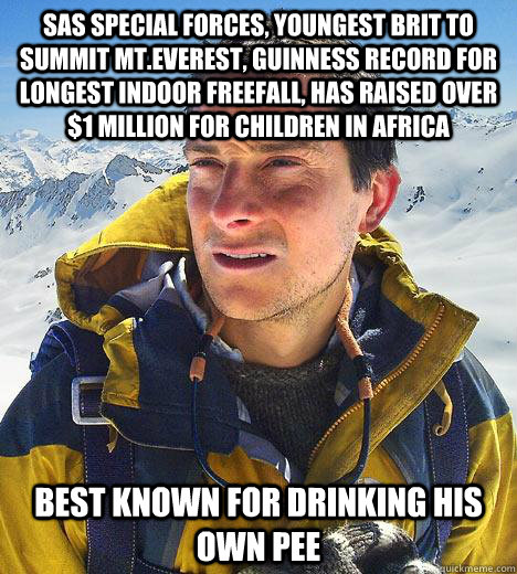 sas special forces youngest brit to summit mteverest guin - Bear Grylls