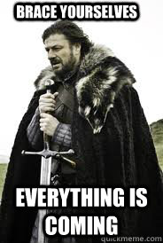 brace yourselves everything is coming - Brace Yourselves