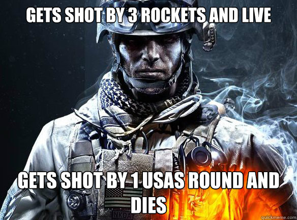 gets shot by 3 rockets and live gets shot by 1 usas round an - Battlefield 3