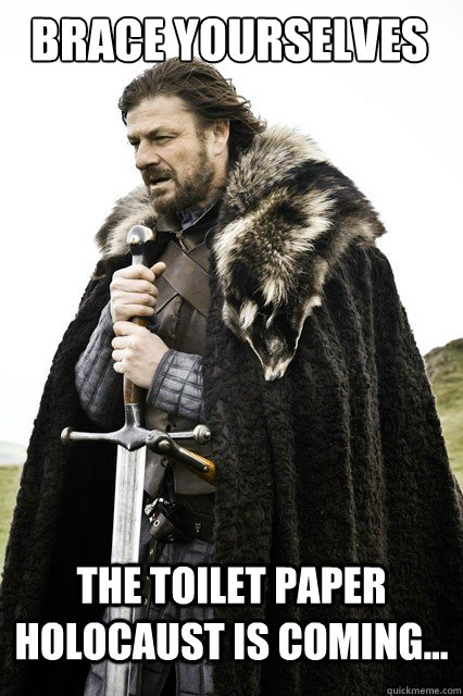 brace yourselves the toilet paper holocaust is coming - Boromir Relationship
