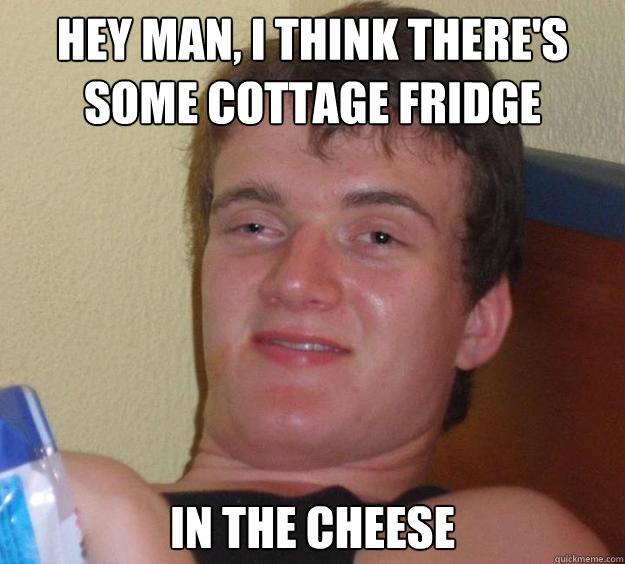 hey man i think theres some cottage fridge in the cheese - 10 Guy
