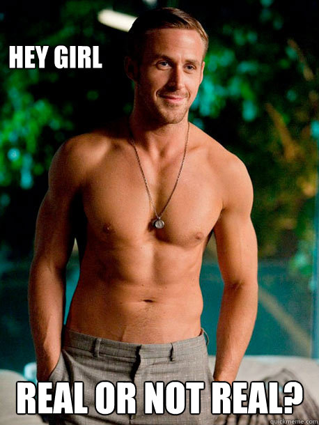 hey girl real or not real - The Hunger Gosling