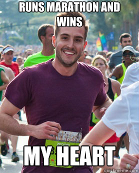 runs marathon and wins my heart - Ridiculously photogenic guy