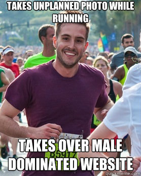 takes unplanned photo while running takes over male dominate - Ridiculously photogenic guy