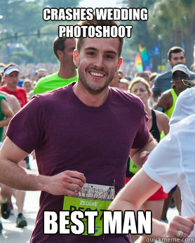 crashes wedding photoshoot best man - Ridiculously photogenic guy