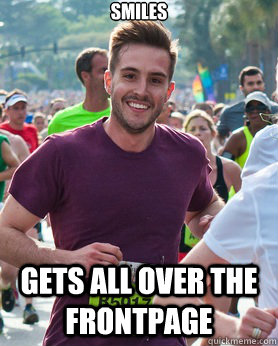smiles gets all over the frontpage - Ridiculously photogenic guy