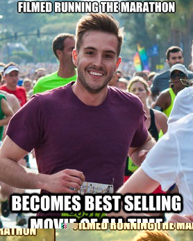 filmed running the marathon becomes best selling movie of al - Ridiculously photogenic guy