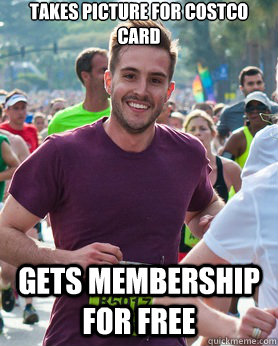 takes picture for costco card gets membership for free - Ridiculously photogenic guy