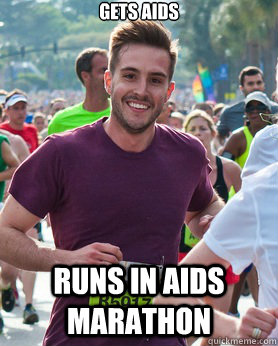 gets aids runs in aids marathon - Ridiculously photogenic guy