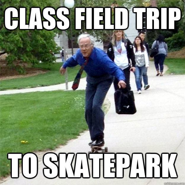 class field trip to skatepark - Skating Prof