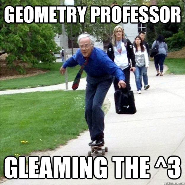 geometry professor gleaming the 3 - Skating Prof