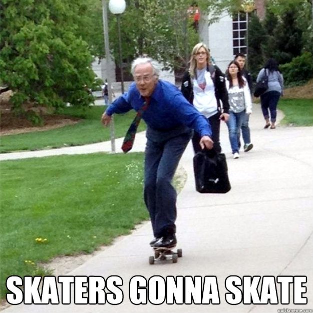 skaters gonna skate  - Skating Prof