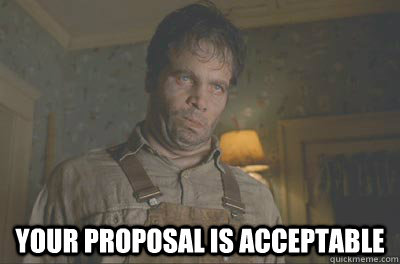 your proposal is acceptable - Acceptable Edgar