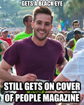 gets a black eye still gets on cover of people magazine - Ridiculously photogenic guy