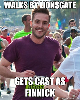walks by lionsgate gets cast as finnick - Ridiculously photogenic guy