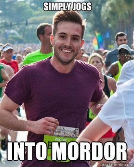 simply jogs into mordor - Ridiculously photogenic guy