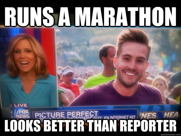 runs a marathon looks better than reporter - RPG News
