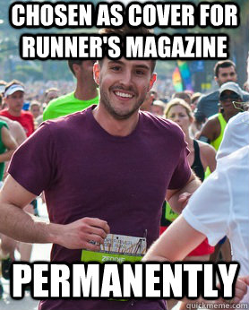 chosen as cover for runners magazine permanently - Ridiculously photogenic guy