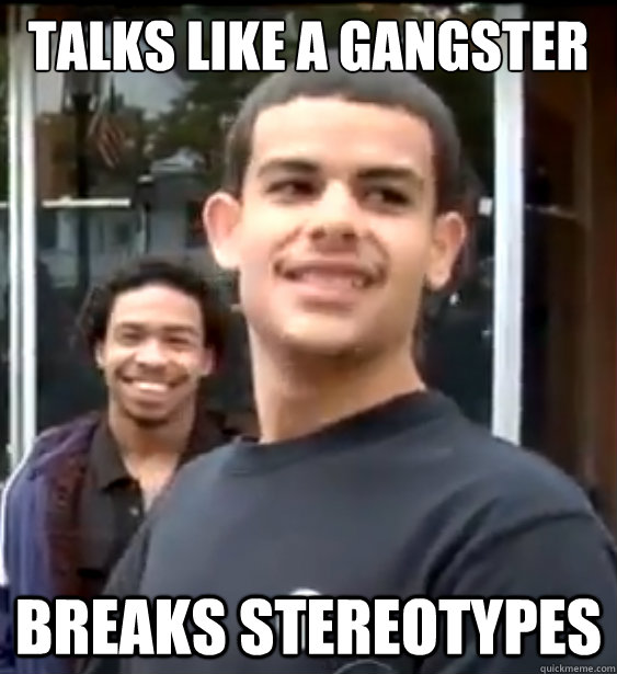 talks like a gangster breaks stereotypes - Awesome Young Man