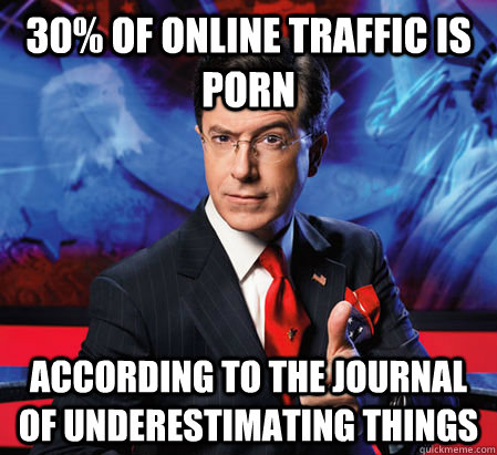 30 of online traffic is porn according to the journal of un - Stephen ...