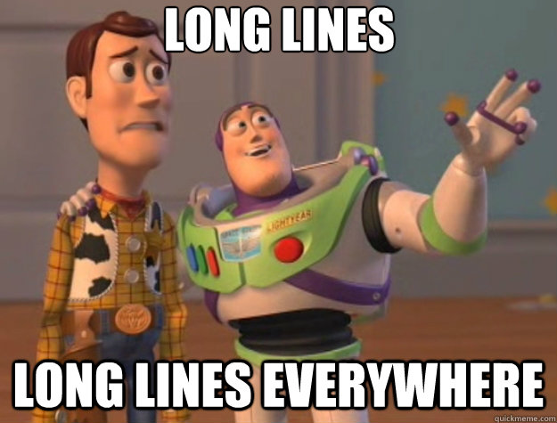 long lines long lines everywhere - Toy Story
