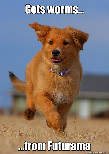 gets worms from futurama - Ridiculously Photogenic Puppy