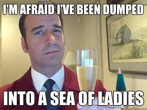 im afraid ive been dumped into a sea of ladies - Fabulous Divorced Guy