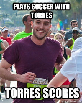 plays soccer with torres torres scores - Ridiculously photogenic guy