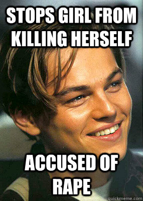 stops girl from killing herself accused of rape - Bad Luck Leonardo Dicaprio
