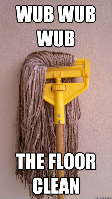 wub wub wub the floor clean - Skrillex Mop