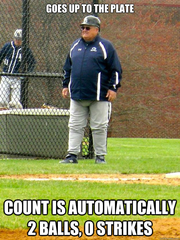 goes up to the plate count is automatically 2 balls 0 strik - Big Balls Coach