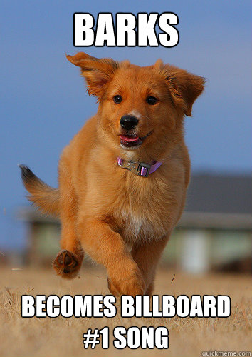 barks becomes billboard 1 song - Ridiculously Photogenic Puppy