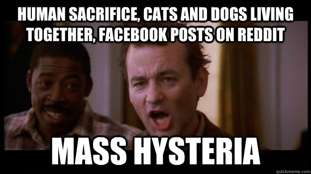 human sacrifice cats and dogs living together facebook pos -