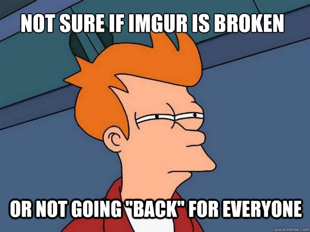 not sure if imgur is broken or not going back for everyone - Futurama Fry