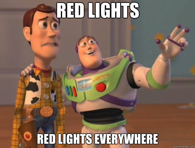 red lights red lights everywhere - Toy Story